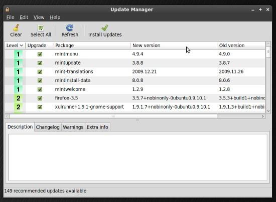 Gestore Aggiornamenti di Linux