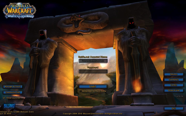 Alleggerire la schermata iniziale di World of Warcraft