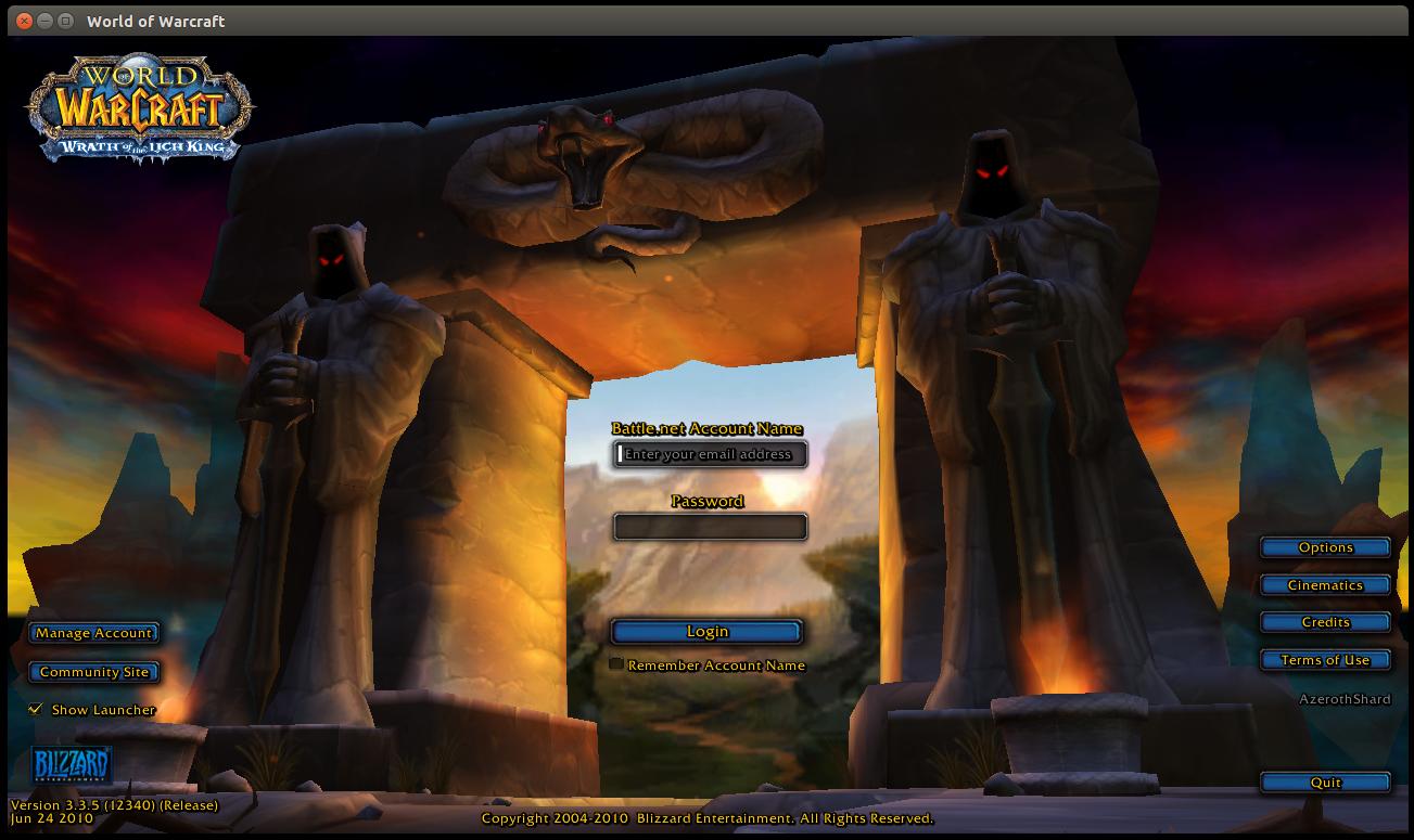 Alleggerire la schermata iniziale World of Warcraft