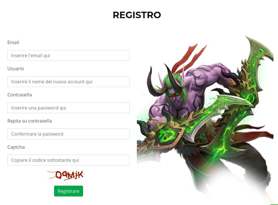 Register BlackfrostWoW